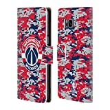 Officiel NBA Camouflage Numérique Washington Wizards Étui Coque De Livre En Cuir Pour Samsung Galaxy S8+ / S8 Plus