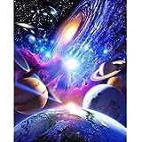 5D Diamant Malerei, erthome Handarbeit Basteln Weltraum-Universum Diamant Kreuzstich Strass Kit Mosaik Gemälde Raumdekor | Stickerei Gemälde Strass (D)