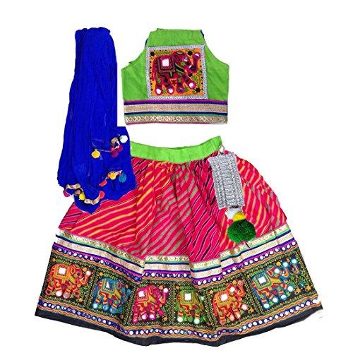 Aglare Girls Cotton Lehenga Choli (Alk140500_18-24 Years_Red_Red)