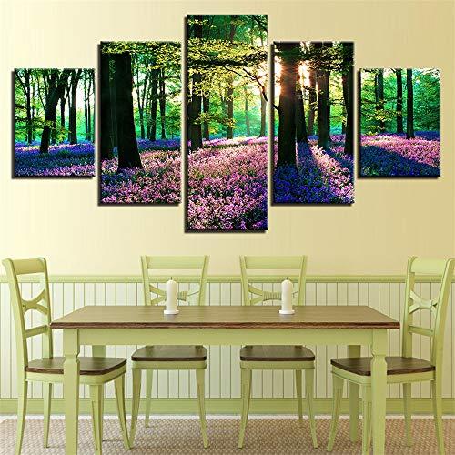 Comecong Dekorative Malerei,Moderne minimalistische Home Art malerei fünf Druckfarbe Baum Landschaft leinwand malerei wandmalereien 11 malerei Kern 10x15cmx2 10x20cmx2 10x25cmx1