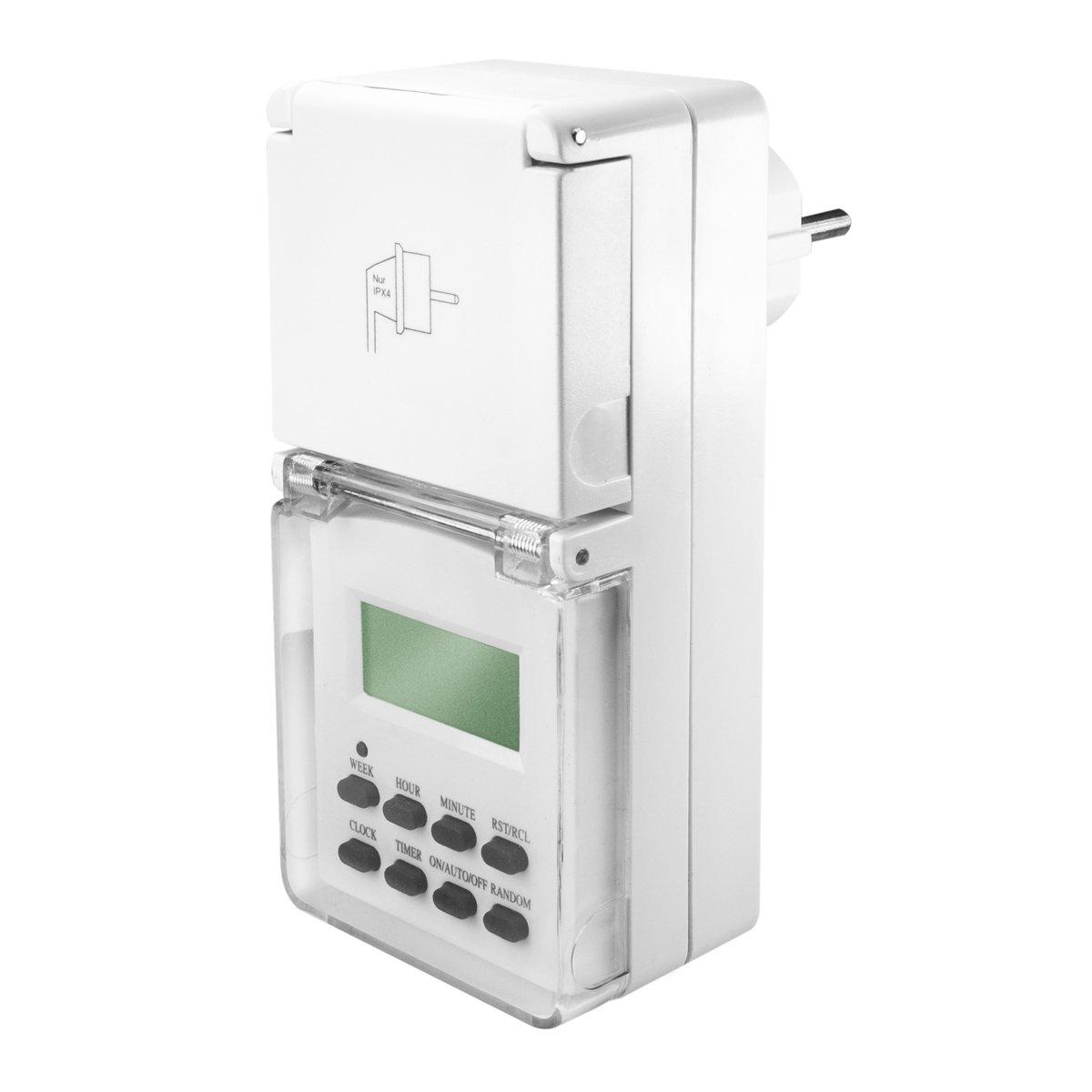 Digitale Zeitschaltuhr 3500W - 10 Schaltprogramme - 16: Amazon.de ...