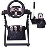 Xfeagle Tilt Adjustable Steering Racing Ergonomic Steel Wheel Stand for Logitech G29 Gaming Wheel- Supporting G920 G27 G25 Th