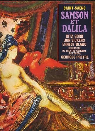 SAMSON et DALILA (Saint-Saëns) - Coffret de 3 disques vinyles + livret - EMI (La Voix de son Maître)