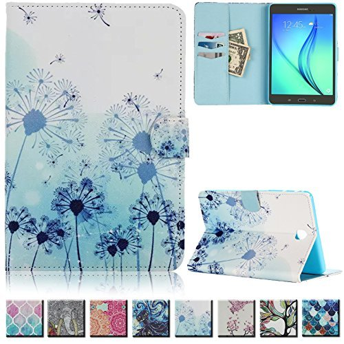 UUcovers(TM) Galaxy Tab A 8.0 inch T350 Case -Ultra Slim Premium Leather Shockproof Flip folio Smart Shell with auto sleep/wake function(NOT FIT for Samsung Galaxy Tab 4 8.0-T330)(Dandelion)