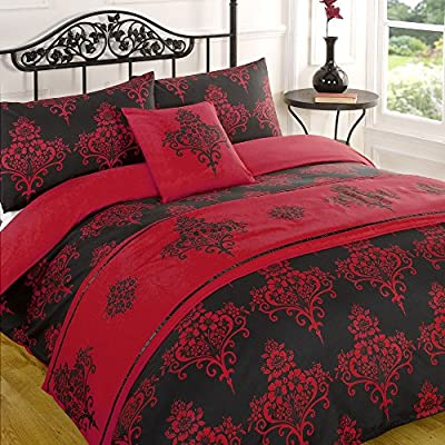 Kate Red Quilt Bed in a Bag set - Single Double King Size Super King Size - cheap UK light shop.