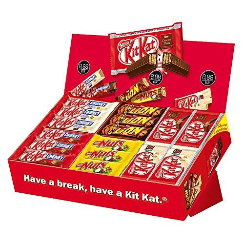 Nestlé Assortimento di Barrette di Cioccolato, KitKat, White, Chunky, Lion, Nuts, 64 Pezzi
