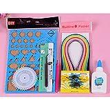 Papier pour Quilling Kit pour débutant quillers Papier craft Art Planche à empreinte fente Outil pour colle