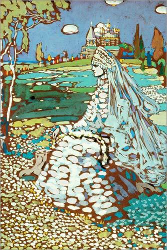 Posterlounge Acrylglasbild 100 x 150 cm: Russische Schöne in Landschaft von Wassily Kandinsky/ARTOTHEK - Wandbild, Acryl Glasbild, Druck auf Acryl Glas Bild