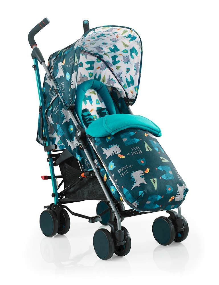Cosatto Supa 2018 Baby Stroller, Suitable from Birth to 25 kg, Dragon Kingdom Cosatto Suitable from birth up to 25 kg stroller; umbrella fold lightweight aluminium chassis with carry handle and folded free-standing feature For added comfort Supa 2018 has an integral upf100+ extended hood; one handed four position seat recline and adjustable calf support Supa 2018 has everything you need: Spacious storage basket, co-ordinating fleece lined footmuff, reversible washable liner, chest pads and recent born head hugger, rain cover and handy cup holder 1