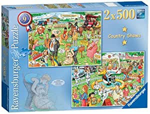 Ravensburger Best of British No.9 - The Country Show 2x 500pc Jigsaw Puzzle