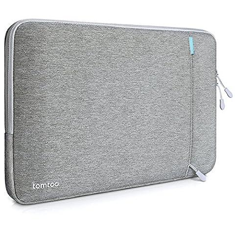 Tomtoc 360° Schutzhülle für das neue 13 Zoll MacBook Pro Late 2016/12,9 Zoll iPad Pro, Stoßfester Stoff Laptop Schutztasche, Spritzwasserfest,
