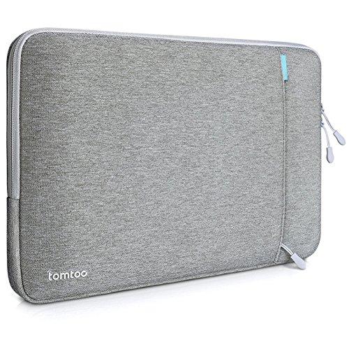 Funda Tomtoc 13 Pulgadas 2016 New MacBook Pro/12.9 Pulgadas Ipad Pro Bolsa Protectora a Prueba de Choques en Tela para Ordenador Portátil, Resistente a Salpicaduras, color gris