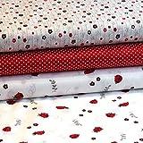 Pepelinchen Jersey Stoffpaket Ladybug - 3 x 0,5 m Stoff -