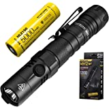 Nitecore MH12 V2 LED Torch - Super Bright 1200 Lumens - Rechargeable Tactical Torch - IP68 Waterproof ([ 21700 Rechargeable B