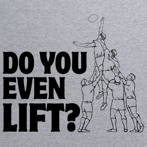 Do You Even Lift T-Shirt, Herren Grau Meliert