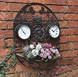 New cestino decorativo da giardino per piante, termometro da appendere tradizionale orologio da parete
