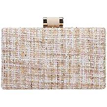 Bonjanvye Weave Fabric Clutch Bags for Women Evening Bags and Clutches  Designer 4ac7f11b9b3