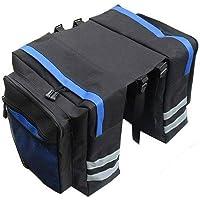 MEROURII Fahrradtaschen,Fahrradträger Taschen Satteltaschen Fahrrad-Rücksitz-Tragetasche mit Regenschutz 27L…