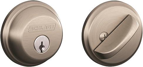 Schlage Lock Company Schlage B60N 619 Single Cylinder Satin Nickel Deadbolt