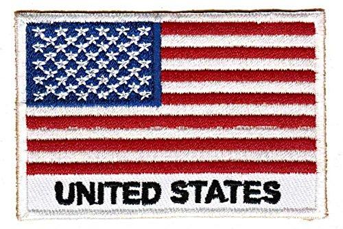 Flagge USA United States Aufnäher Bügelbild Patch Applikation -