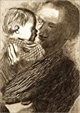 Posterlounge Leinwandbild 90 x 130 cm: Mutter mit Kind auf Dem Arm von Käthe Kollwitz/akg-Images - fertiges Wandbild, Bild auf Keilrahmen, Fertigbild auf Echter Leinwand, Leinwanddruck