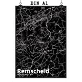 Mr. & Mrs. Panda Poster DIN A1 Stadt Remscheid Stadt Black