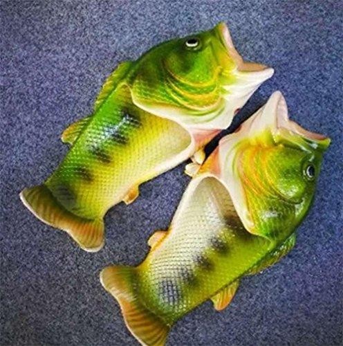 W&XY Pantoufles de plage, pantoufles de plage pour hommes et pantoufles de piscine en forme de poisson Chaussons anti-dérapants Sandales dété 43