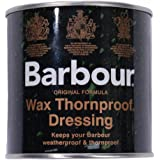Barbour Wax Dressing Tin, Thornproof, Waterproof for Clothing/Jackets 200ml