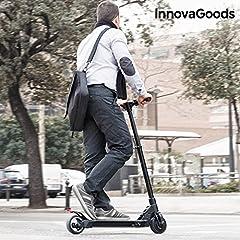 Idea Regalo - InnovaGoods ig115960Monopattino Elettrico Pieghevole, Unisex Adulto, Nero, Taglia Unica
