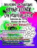 Para los Niños - De Todas Edades Aprende a Contar Con pétalos de la Flor Adición de 1 a 10 Restar de 10 a 1 Con Tu Amigo