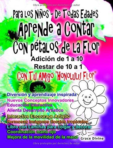 """Para los Niños - De Todas Edades Aprende a Contar Con pétalos de la Flor Adición de 1 a 10 Restar de 10 a 1 Con Tu Amigo """"Honolulu Flor"""""""