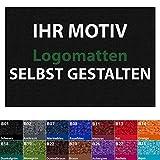 Premium Fußmatte selbst gestalten | Schmutzfangmatte personalisierbar mit Ihrem Logo | für Einzug, Hochzeit, als Geschenk uvm. | große Auswahl an Farben und Größen (schwarz - 45x60 cm)