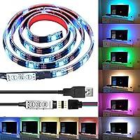 Caractéristiques du produit: Couleur modifiable, Flash. Rester sur une seule couleur (Rouge, Vert, Bleu, Blanc ....) avec Mini contrôleur - Bande allongée: 1 mètre (3.28 pieds) avec 30 pcs leds -Le câble USB (le câble noir) est de 1 mètre / 3.28 pi...