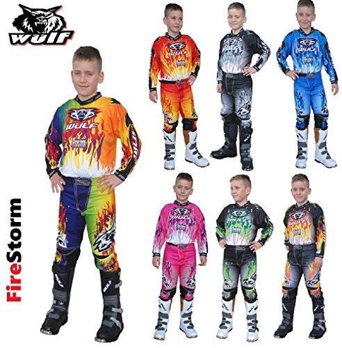 Atv Race Jersey (WULFSPORT ARENA NEU RACING KINDER HOSEN JERSEY HEMD MX ATV QUAD KINDER RENNKLEIDUNG (8-10 Jahr, ORANGE))