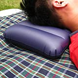 Zollyss 2 Pcs Portable Folding Inflatable Mattress Pillow Air Flocking Cushion For Outdoor Travel Pillow