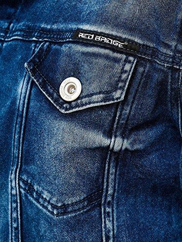 Red Bridge Herren Jeansjacke Biker Style Jeans Jacket Blue Denim Jacke Blau M6058 M - 4