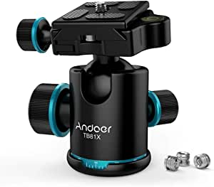 Andoer Camera Tripod Ball Head With Quick Release Plate 1 4 Inch