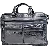 Maxam Brand Italian Mosaic Design Genuine Leather Briefcase