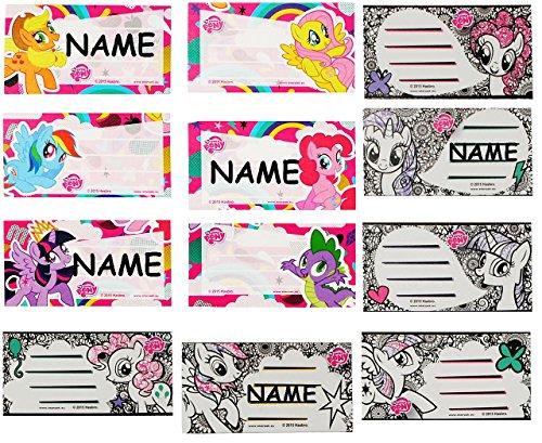 Unbekannt 30 Stück _  Mein kleines Pony  - Sticker für Hefte - Heftetiketten für den Namen - Etiketten Schulheft Aufkleber Heft - für Mädchen - My Little Pferd / Pony..