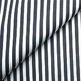 0,5m Streifen-Stoff 5mm schwarz/ weiß