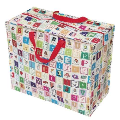Große Aufbewahrungstasche Jumbo Bag Picknicktasche Tasche Einkaufstasche Wäschetasche Alphabet - Tag-alphabet