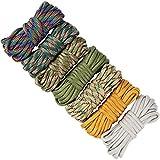 UOOOM 7 pcs Multicolore Multifonction Paracordes pour Parachute Bracelet (Colorful U-A3M)