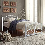 Popamazing 4ft6 Double Size Metal Bed Frames White