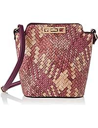 da3506460f718 Swankyswans Damen Sally Weave Pu Leather Shoulder Bag Purple Umhängetaschen