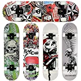 FunTomia® Skateboard mit ABEC-11 Kugellager und Rillen-Profil Rollen aus 100%