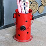XIAOLIN Retro Hecho Viejo Paraguas Cubo Boca de Incendio Cesta de Papel Inicio Creativo Bar Ornamento Decoración Paraguas Estantería de Almacenamiento Personalidad Modelado Creativo Hermoso y Práctico Tres Colores ( Color : Rojo )