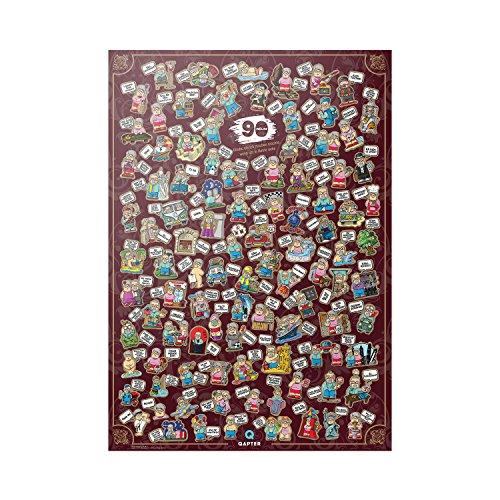 Qapter Poster Rubbelkarte für Rentner - 99 Dinge, die ich machen möchte, wenn ich in Rente gehe - Bucketliste, perfektes Geschenk für Rentner, mehrfarbig und 84 x 59,5 x 0,1 cm groß (Geschenke Für Rentner)