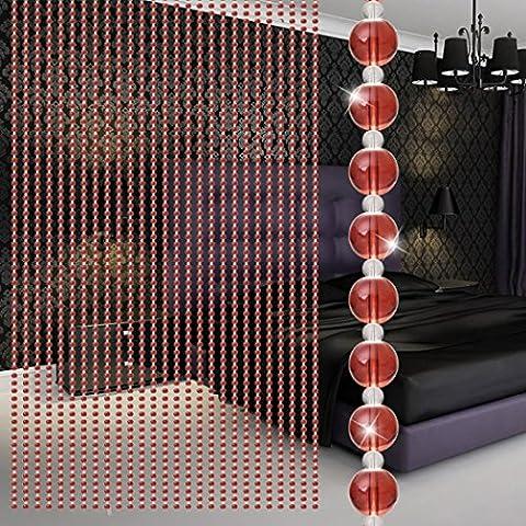 Xshuai Hochwertige einfache 1m Kristall Glasperle Vorhang Luxus Wohnzimmer Schlafzimmer