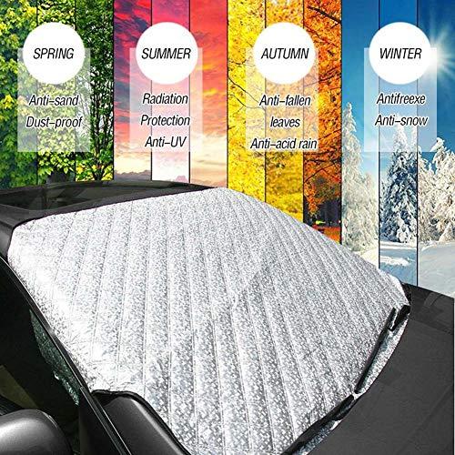 VIKEA Auto Windschutzscheibe Cover Magnetic, Frost Guard Spiegel Schneedecke Double Side Ice Shield Design, Sonnenschutz, Wasser, Staub - Passend für Die Meisten Autos, Trucks, SUV (57,87 x 40,16'') -