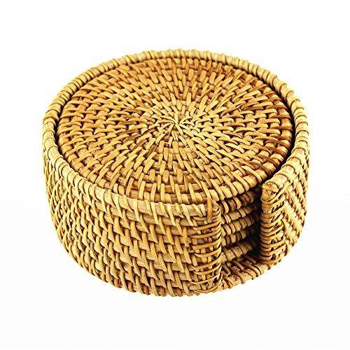 brila-hand-woven-rattan-coasters-with-multipurpose-coaster-holder-exotic-handmade-teacup-coasters-cr